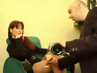 perfect red-haired mother i in hot suit gets
