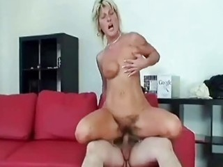 granny swallows a large pounder and fucks it hard