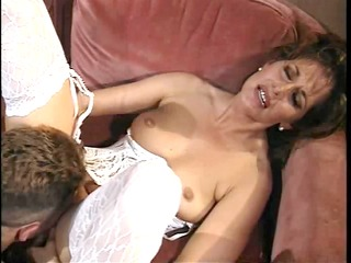 retro milf drilled unfathomable on couch