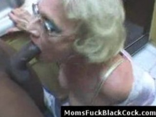 very aged white lady blows large dark pecker in