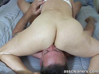 lewd mistress demands for ass licking during the