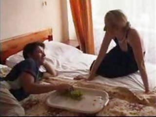 small russian older and younger amateur mama