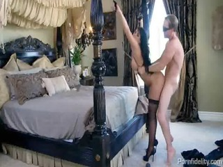 shackeled up wench fucks with an incredible booty