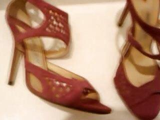wife heels shoes cum