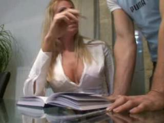 real wife plays his lascivious secretary
