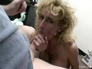 older blonde sage gives a oral-sex
