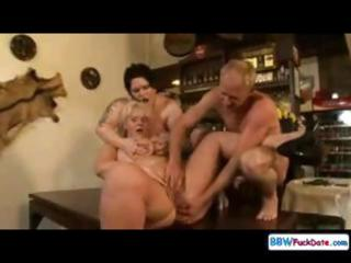 group sex bonanza for trio bulky chicks,