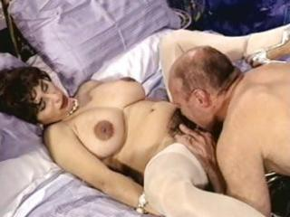 breasty brunette mature with hairy cookie trades