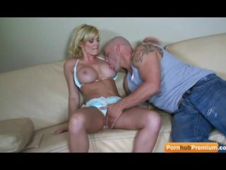 tall blond milf receives the job done herself