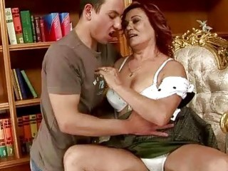 lusty grandma fucking with a chap