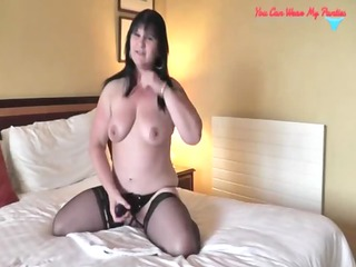 messy british wife strapon and cum overspread