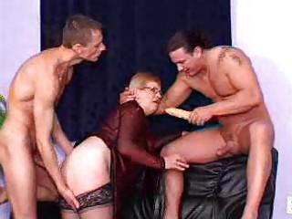 fiery redheaded granny sluts take on sexy group