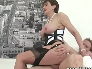 cheating wife gets hawt forbidden sex in pantyhose