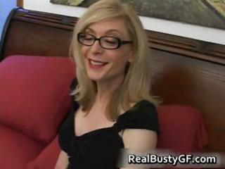 golden-haired mom in glasses licking stiff part10
