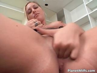 slut loves big rubber sex toys but she