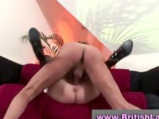 aged british lady gets multiple orgasm