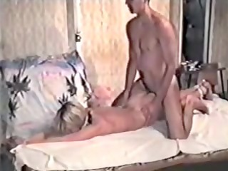 blond in dilettante homemade sadomasochism tape