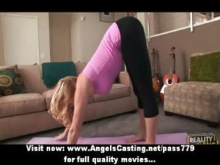 golden-haired d like to fuck does yoga and