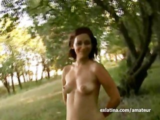 mommy gets undressed in public park and teases