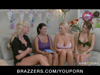 sexy blond large tit lesbo bday angel screwed