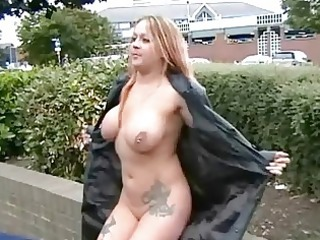 breasty milf ginas public nudity and english