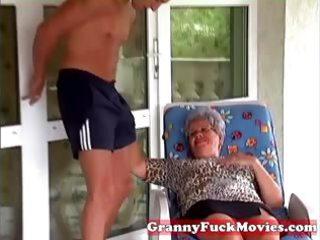 granny eve engulfing hard youthful dick