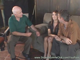 breasty wife getting her cum-hole drilled hard