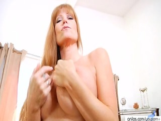 aged bigtit redhead housewife