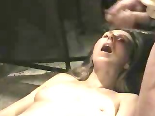 cumming all over her old face