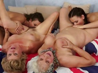 grannies and nubiles enjoying sexy sex