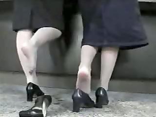 candid shoeplay - 8 hostess dipping heels