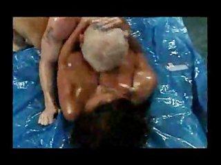busty butt wrestling older donita dunes