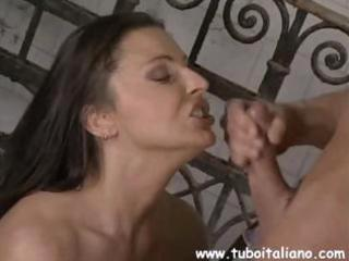 breasty brunette italian wife cheats and receives