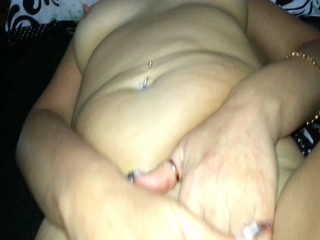 wife ejaculation on her stomach.