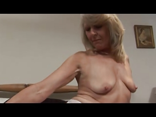 milf in white lace and stockings fingers