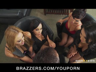 four hawt breasty asian doxies in hot orgy fuck