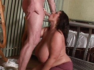 lusty mega breasted mother i honey blows a
