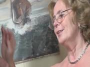 pierced german granny getting fucked hard by a
