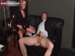 immodest aged floozy goes insane spanking