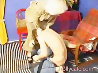 old mamma spanks him and then fucsk him oral sex