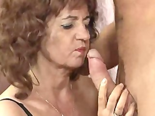 sexy granny large tits in stockings