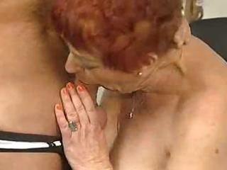 deliciously unshaved granny sucks and bonks
