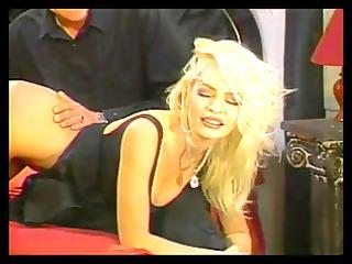blond gets taste on the arse