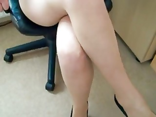 women putting on her pantyhose-tights d111