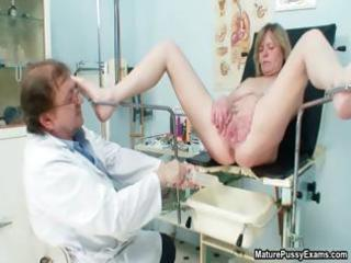 doctor copulates a aged patient