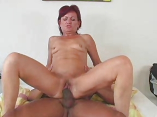granny award 9 redhead mature with a youthful dude