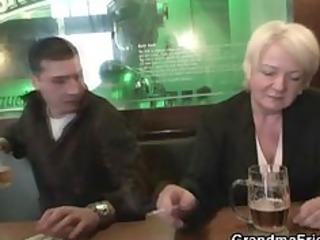 absolutely drunk granny takes dicks