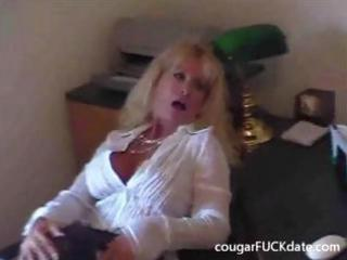 sexy granny cougar in nylons bonks a young dude