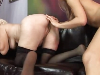 granny taking an anal pounding by young angel -