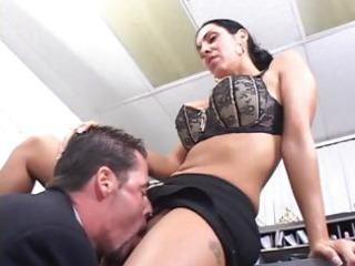 dark brown milf office sex
